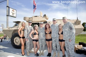 Army and pretty girls. God, Guns & Automobiles © Ben Philippi