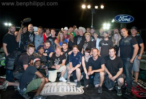 Cast and crew of God Guns Automobiles. God, Guns & Automobiles © Ben Philippi