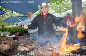 Mark Muller BBQ Master. God, Guns & Automobiles © Ben Philippi