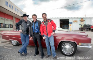 Mark Muller, Barry Williams and Mancow. God, Guns & Automobiles © Ben Philippi