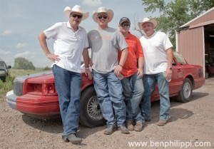 Mark Muller, Matt Harvey, Bill Myers and Rod Berry. God, Guns & Automobiles © Ben Philippi